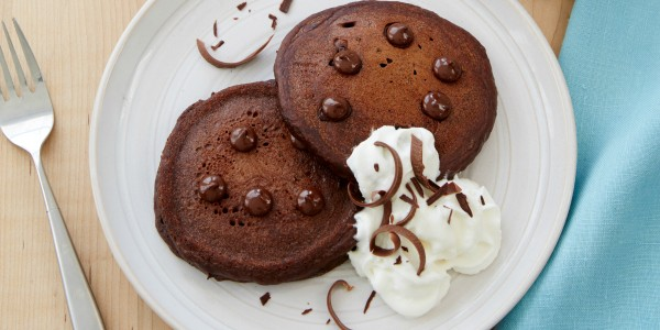 Double Chocolate Chip Pancakes