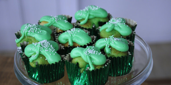 Chocolate Clover Cupcakes