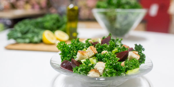 The 4-ingredient kale salad we're obsessed with