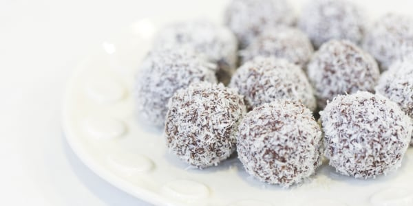 Easy Chocolate Coconut Truffles