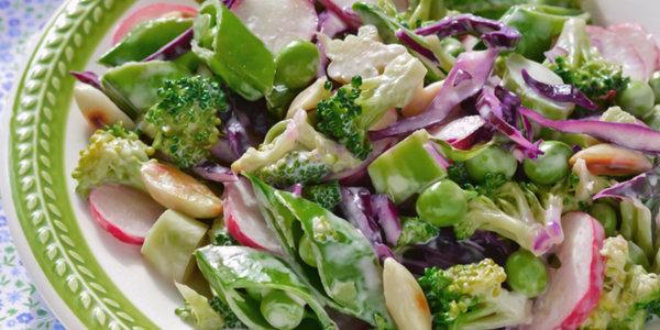 Sugar Snap Pea Salad, Radish, Sunflower Seeds, Parmesan Vinaigrette