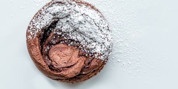 6-Ingredient Chocolate Ganache Soufflé Cake