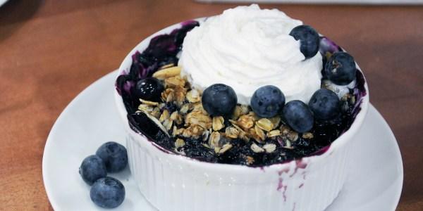 Lightened-Up Blueberry Crisp