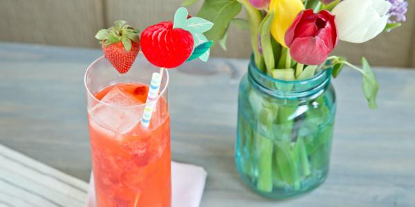 Bourbon Strawberry Lemonade