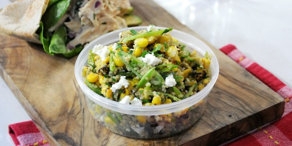 Snap Pea, Charred Corn and Quinoa Salad