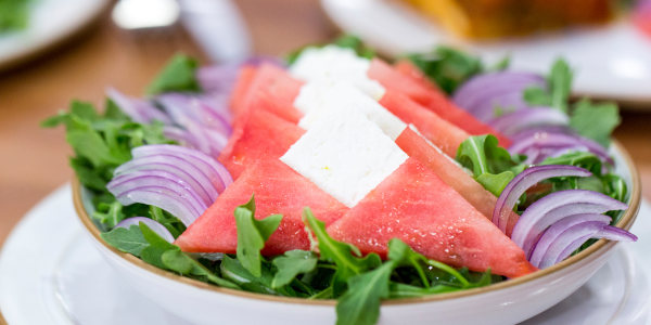 5-Ingredient Watermelon, Feta and Arugula Salad