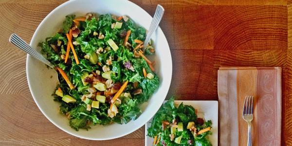 Kale, Avocado and Walnut Salad