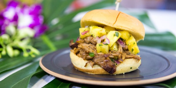 Al's BBQ Pulled Pork Sandwich with Pineapple Salsa
