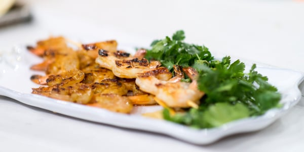 5-Ingredient Ginger Honey Grilled Shrimp Kabobs