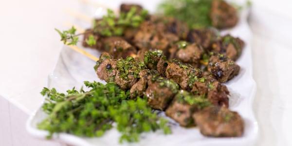 Al's Grilled Chimichurri Beef Skewers