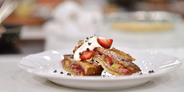 Strawberry Banana PB & J Stuffed French Toast