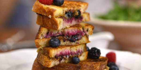 Grown Up PB & J Grilled Cheese