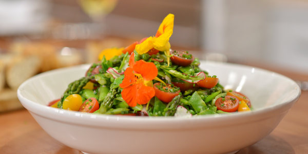 Spring Vegetable Salad with Honey-Lemon Vinaigrette