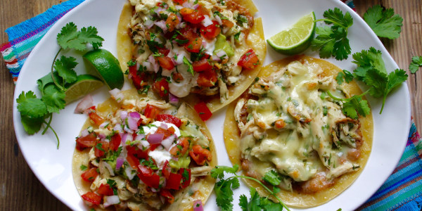 Leftover Chicken & Cheese Tacos