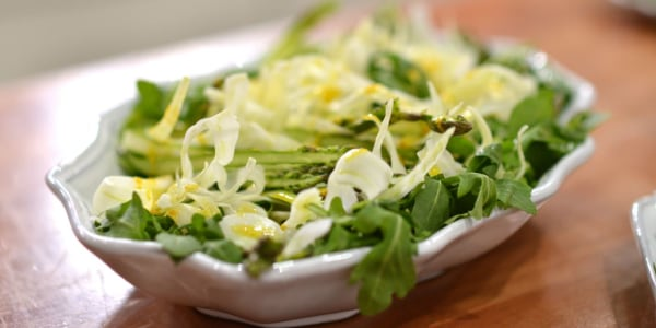 Asparagus, Fennel & Arugula Salad with Zesty Orange Dressing