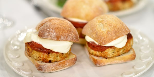 What to do with ground chicken? Make chicken parm burgers and Buffalo meatballs!