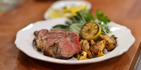 Grilled Rib Eye Steak Florentine