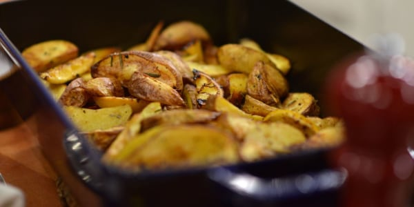 3-Ingredient Crispy Oven-Roasted Potatoes