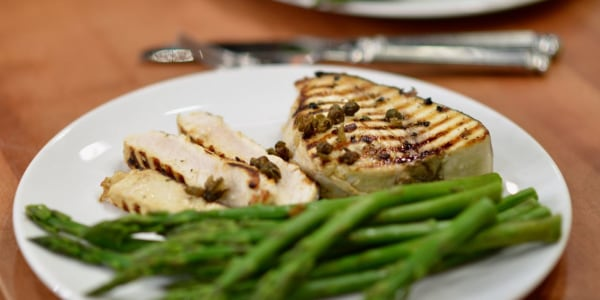 Carson's Favorite Grilled Swordfish with Crispy Capers