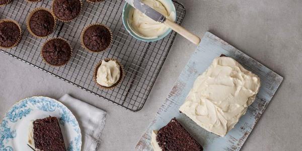 Easy Black Velvet Cake with Cream Cheese Frosting