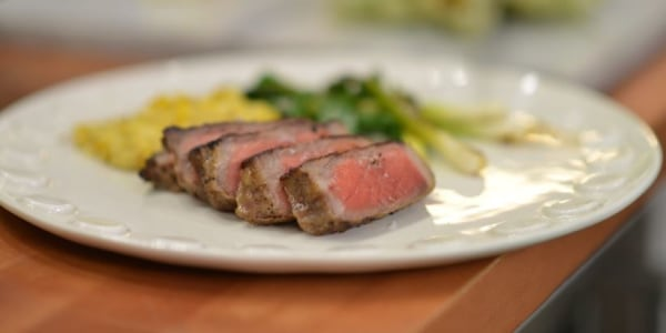 Curtis Stone's Grilled Steak and Creamless Creamed Corn