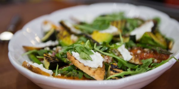 Grilled Vegetable and Arugula Salad with Israeli Couscous