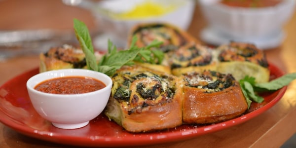 Pepperoni Rolls with Broccoli
