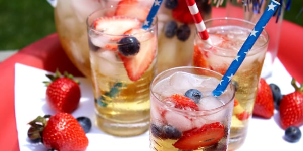 Red, White and Blue Sparkling Sangria