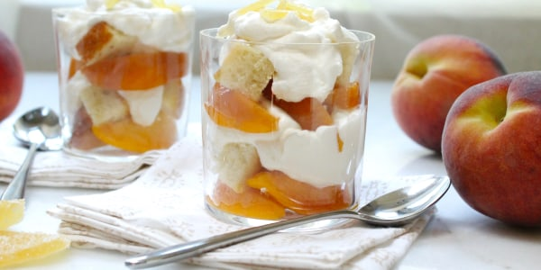 5-Ingredient Peach Shortcake Parfaits