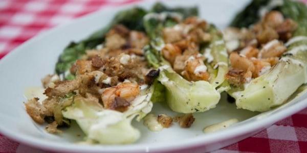 Meghan Markle's Grilled Caesar Salad with Shrimp