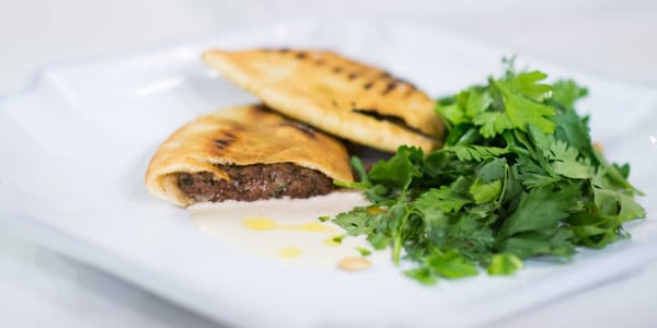 Pita Stuffed with Meat (Arayes)