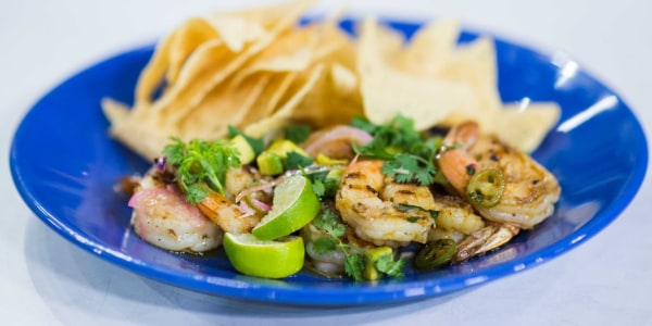 10-Minute Grilled Shrimp and Avocado Salad