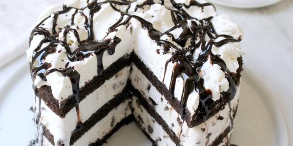 5-Ingredient Mint Chocolate Chip Ice Cream Cake
