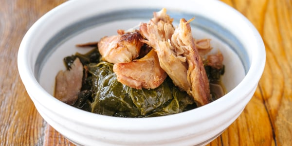 Collard Greens with Smoked Turkey and Potlikker