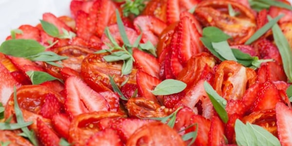 Roasted Tomatoes with Strawberries
