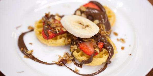 "Nutella Breakfast Waffle ""Nachos"""