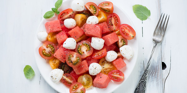 Heirloom Tomato & Watermelon Salad with Buffalo Mozzarella