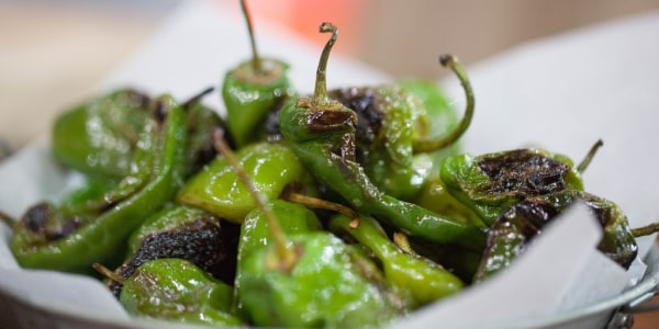 Martha Stewart's Blistered Padron Peppers with Sea Salt