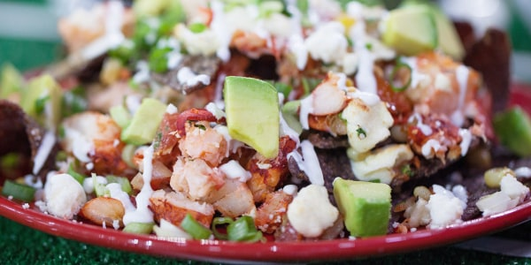 Lobster Nachos, Corn Salsa, Heirloom Tomato & Avocado
