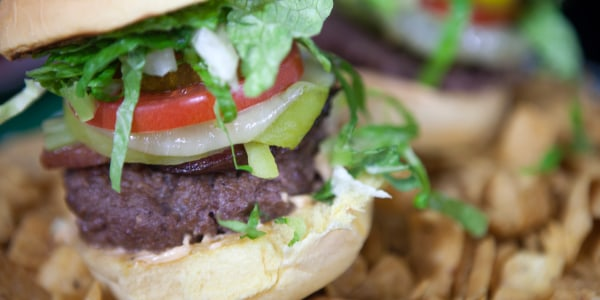 Broncos Bison Burger with Garlic and Chile Aioli
