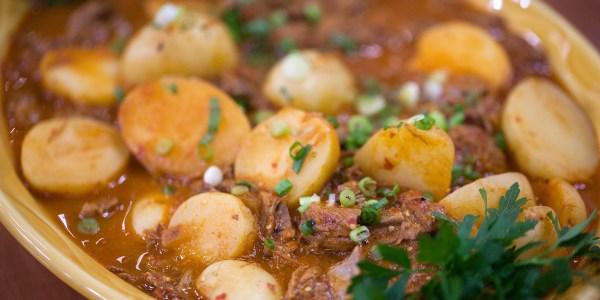 One-Pot Mexican Steak and Potato Stew with Guajillo Sauce