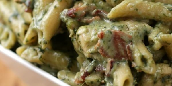 One-Pot Chicken Spinach Bacon Alfredo