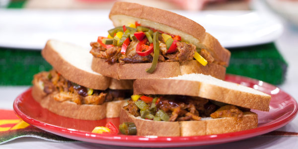 Sunny's Kansas City Slow Cooker Rib Sandwiches