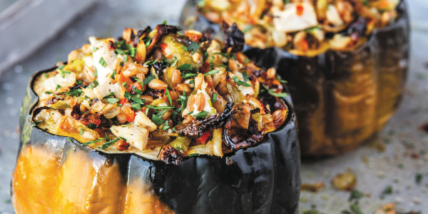 Guy Fieri's Stuffed Acorn Squash