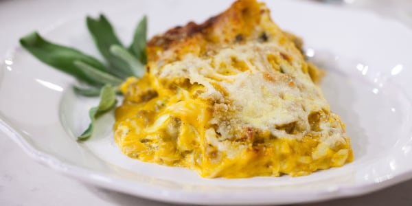 Pumpkin and Sausage Lasagna