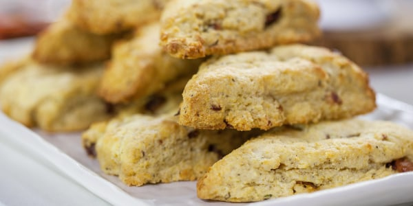 Black Pepper Bacon and Honey Scones
