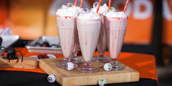 Eyeball Milkshakes for Halloween