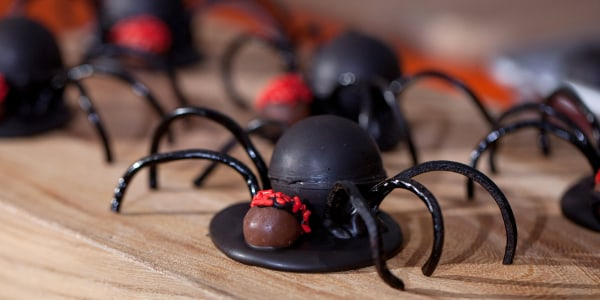 Slime-Filled Spiders for Halloween