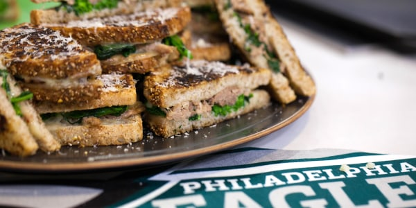 Grilled Cheese with Pulled Pork and Broccoli Rabe
