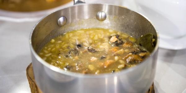 Wild Mushroom Gravy with Sherry and Pine Nuts
